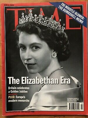 Rare TIME Magazine 2002, Royals, Queen: Elizabethan Era, Golden Jubilee, Vintage