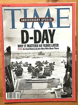 Rare TIME Magazine 2004, D-Day WWII, 60 Years Later, Anniversary Issue, Vintage