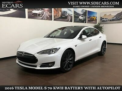 2016 Tesla Model S 70 kWh Battery 2016 White 70 kWh Battery!