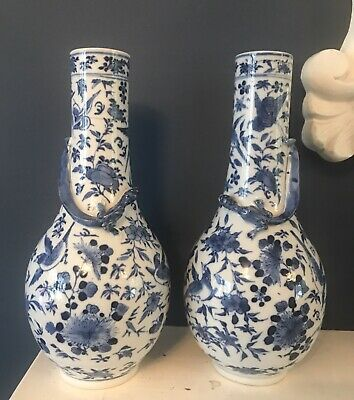 Pair Of Antique Signed Chinese Vases 25.5 Cm Tall. No Reserve.