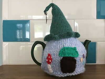 Hand knitted  ' Fairy House ' tea cosy / cosie.Great  Gift
