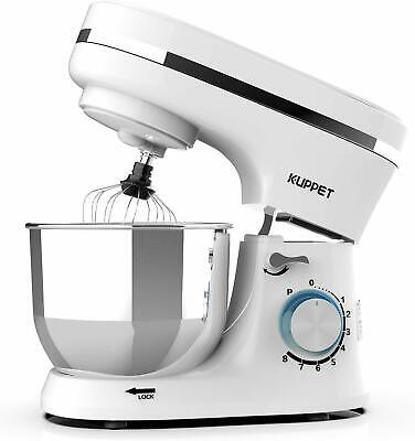 Electric Tilt-Head CountertopFood Stand Mixer 8Speeds 4.7QT Home Kitchen White*+