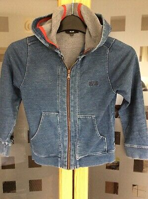 Hugo Boss Girls Blue Zipped Hoodie Age 10 S108
