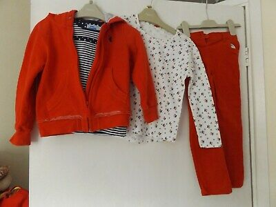Next 4 piece outfit / set jeans, hooded jacket, T-shirt and top aged 4-5 Years
