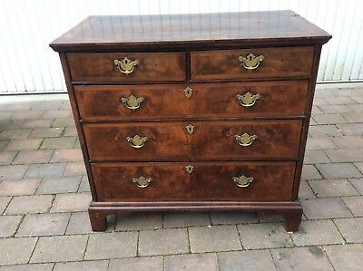 Early 18Th C Walnut Chest Of Drawers _ Queen Anne Or George I & Priced To Sell!