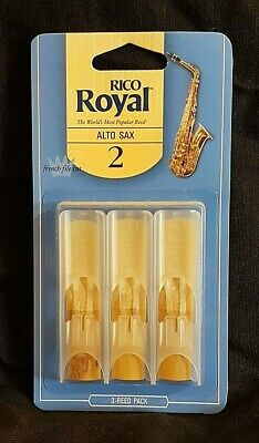 Rico Royal Tenor Saxophone Reeds (3-pack) - Strength 2