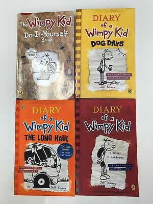Diary of a Wimpy Kid Collection x 4 Paperback Books  Set by Jeff Kinney (7 - 12)