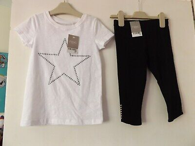 Next lovely girls outfit / set T-shirt and 3/4 leggings new w tags aged 5 Years