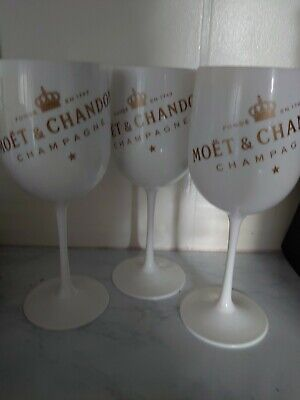 Luxe of London Premium White Acrylic Limited Edition Champagne Glasses