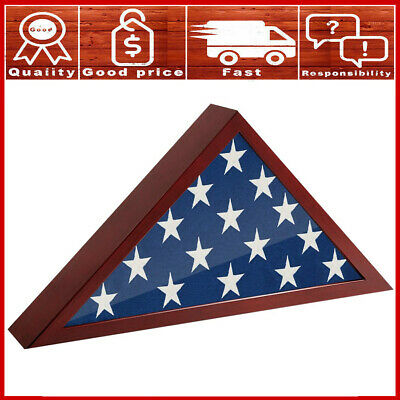 US Folded Memorial Flag Triangle Display Case Box For Burial Casket