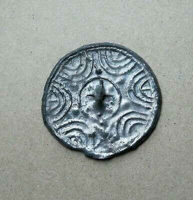 Authentic Viking Decorated With Ornament Bronze Mirror Very Rare Condition
