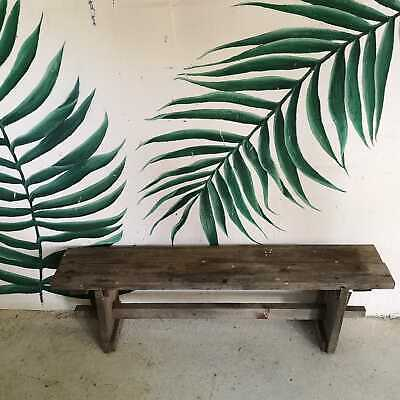 Vintage Rustic Farmhouse Wooden Garden or Kitchen Bench Seating