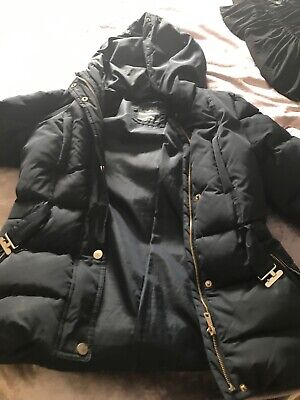 girls Zara navy blue coat age 13-14 years With belt