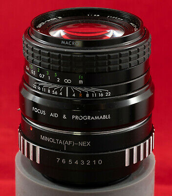 Sigma Super-Wide Ii 24Mm F2.8 Lens With Minolta (Af) To Nex Adapter