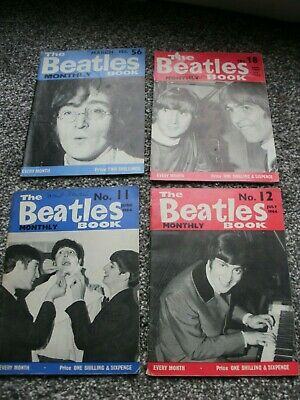 4 x The Beatles Books original Monthly from the 60s