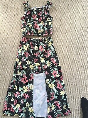 River Island Girls Outfit (crop Top And Shorts/long Skirt) Age 9-10