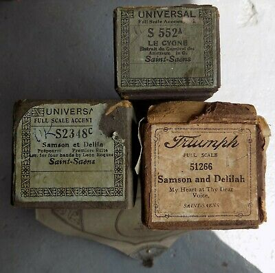 4 x Pianola Piano Rolls 88 note by Saint-Saens
