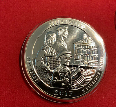 USA Quarter Dollar 2017 Silber - 5 Unzen- America The Beautiful - Ellis Island