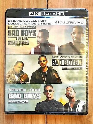 Bad Boys Trilogy Collection Blu-Ray 4K UHD (With Bad Boys for Life) + Digital