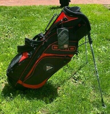 New Ogio Coors Light 4-Way Stand Carry Golf Bag - Black/Red