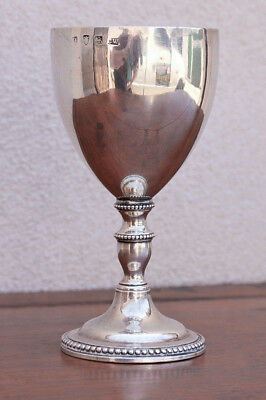 Charles Wright London Sterling Silver Goblet, Gold Wash, 1776-77 Marked