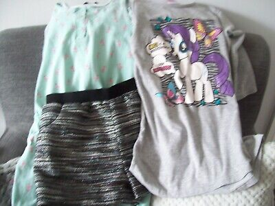 3 summer items girl age 9/10 years shorts playsuit MLP top Nutmeg & George