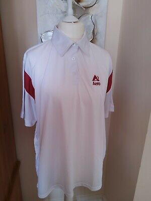 Aero Lawn Bowls Top White With Burgundy Accents...new ...3Xl