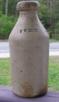 Stoneware Beer or Soda. W W Rich.
