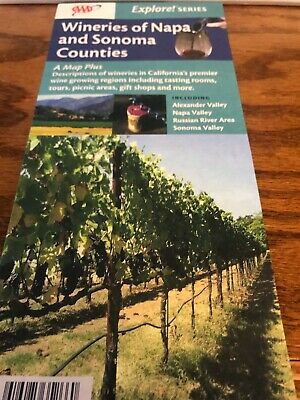 Map of the Wineries of Napa and Sonoma Counties, by AAA Maps