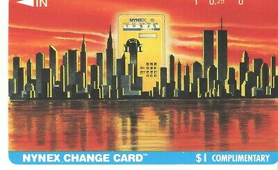 Nynex $1 (Blue Border) Complimentary Manhattan and Twin Towers Phone Card