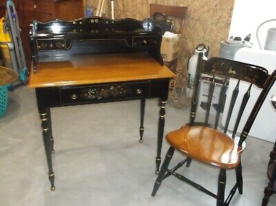 Vintage Ethan Allen Writing Desk with Chair