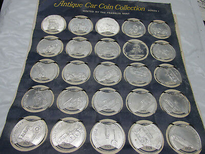 [env] 56 different aluminum car collector coins sunoco with collector  cards