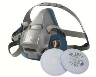 3M Small Respirator 6501  Rugged Comfort W 2071 Filter Exp 2025 USA MADE
