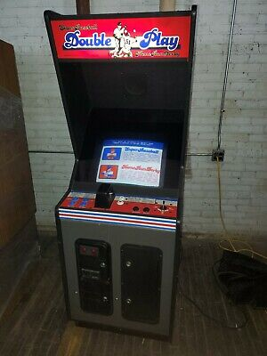 1987 DOUBLE PLAY Super Baseball & Home Run Derby Stand Up Arcade Game by LELAND