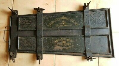 Rare Antique Victorian Japanned Metal The Worlds Trouser Presser & Stretcher