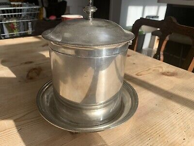 Mappin And Webb Biscuit Barrel Silver Plated