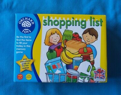 Orchard Toys Shopping List Toddler Kids Education Memory Game