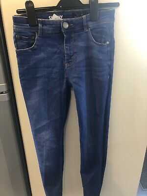 Next Blue Boys Jeans Age 11 Skinny Fit Worn Once