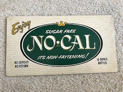 NO - CAL Sugar Free Vintage Double Sided Rack Sign