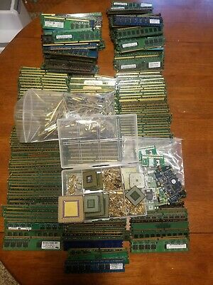 LARGE Mixed lot for Gold ,Scrap Recovery Memory, Processors, Plated