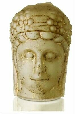 Nemrut Fortuna Statues Handmade Cream Opal Glass Tumbled by Using Gold Paints