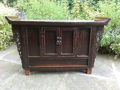 Free Delivery _ Antique Chinese Cabinet_ Great Colour 19Th Century Or Earlier.