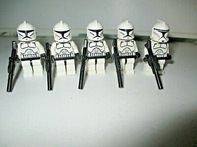 Lego Star Wars Minifigures - Clone Troopers With Clone Commander (Genuine Lego)