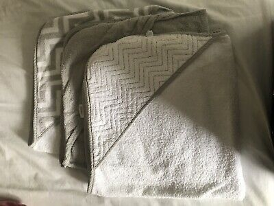 Baby Towel Bundle. 3 Hooded Mothercare Baby Towels - Matching Set. 100% Cotton