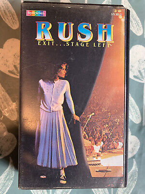 Rush Exit Stage Left  VHS Video Tape