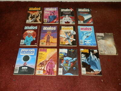 ANALOG Science Fiction Magazines 1981..FULL YEAR..13 ISSUES...NICE ORDER