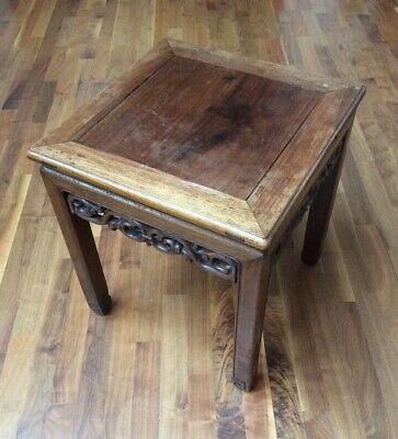 Free Delivery 19Th Century Chinese Antique Hongmu Small Fretwork Table / Stool