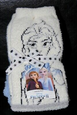 BNWT Disney Frozen Bed Socks 2 Pairs One Size Blue & Pink
