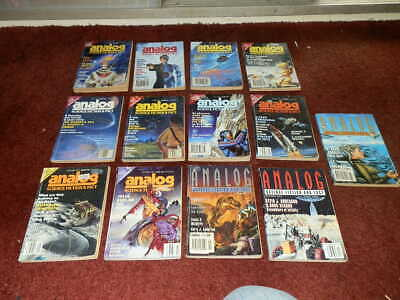 ANALOG Science Fiction Magazines 1992..FULL YEAR..13 ISSUES...NICE ORDER