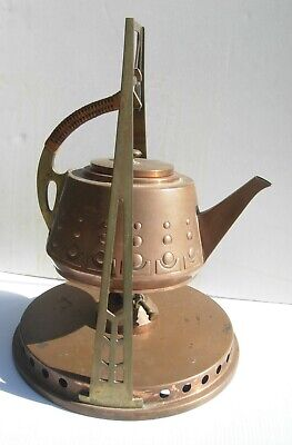 Arts and Crafts  Mission style  Craftsman Era Copper Pitcher on Stand WMF